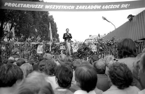Brama Stoczni Gdańskiej, sierpień 1980
